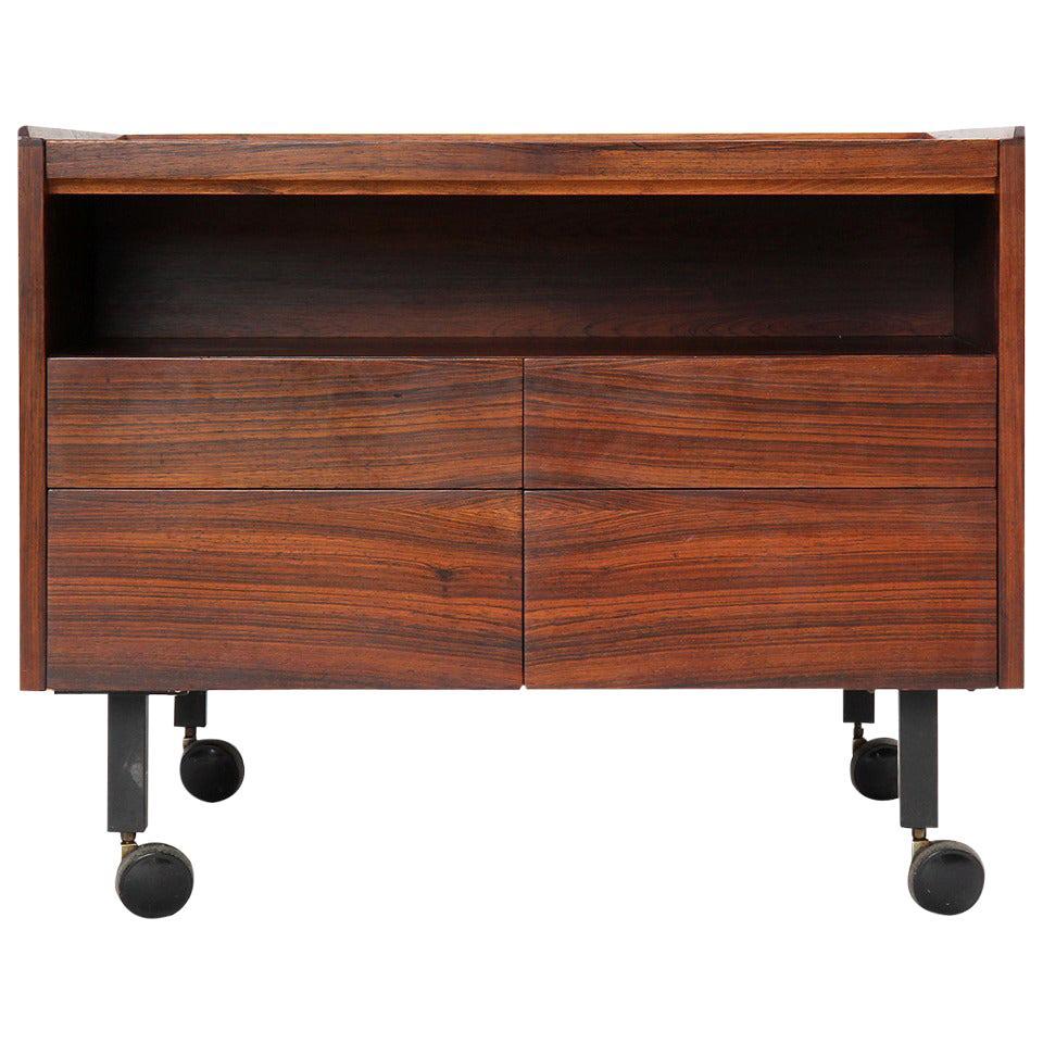 Rosewood Bar Cart by Arne Vodder