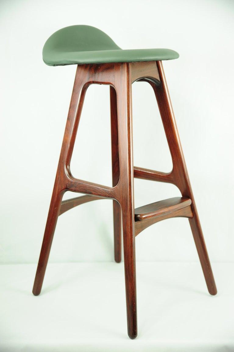 Mid-Century Modern Rosewood Bar Stools OD 61 by Erik Buch for Oddense Maskinsnedkeri, 1960s For Sale