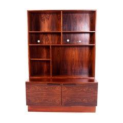 Rosewood Bookcase by Ib Kofod-Larsen for Faarup Møbelfabrik