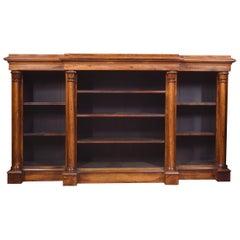 Rosewood Breakfront Open Bookcase