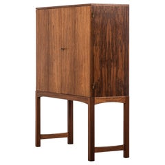 Rosewood Cabinet Attributed to Carl Malmsten and Produced in Sweden