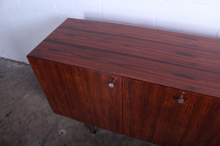 Rosewood Cabinet by Poul Nørreklit for Georg Petersens Møbelfabrik In Good Condition For Sale In Dallas, TX