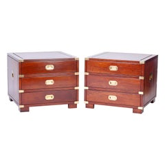 Rosewood Campaign Style Nightstands or Chests