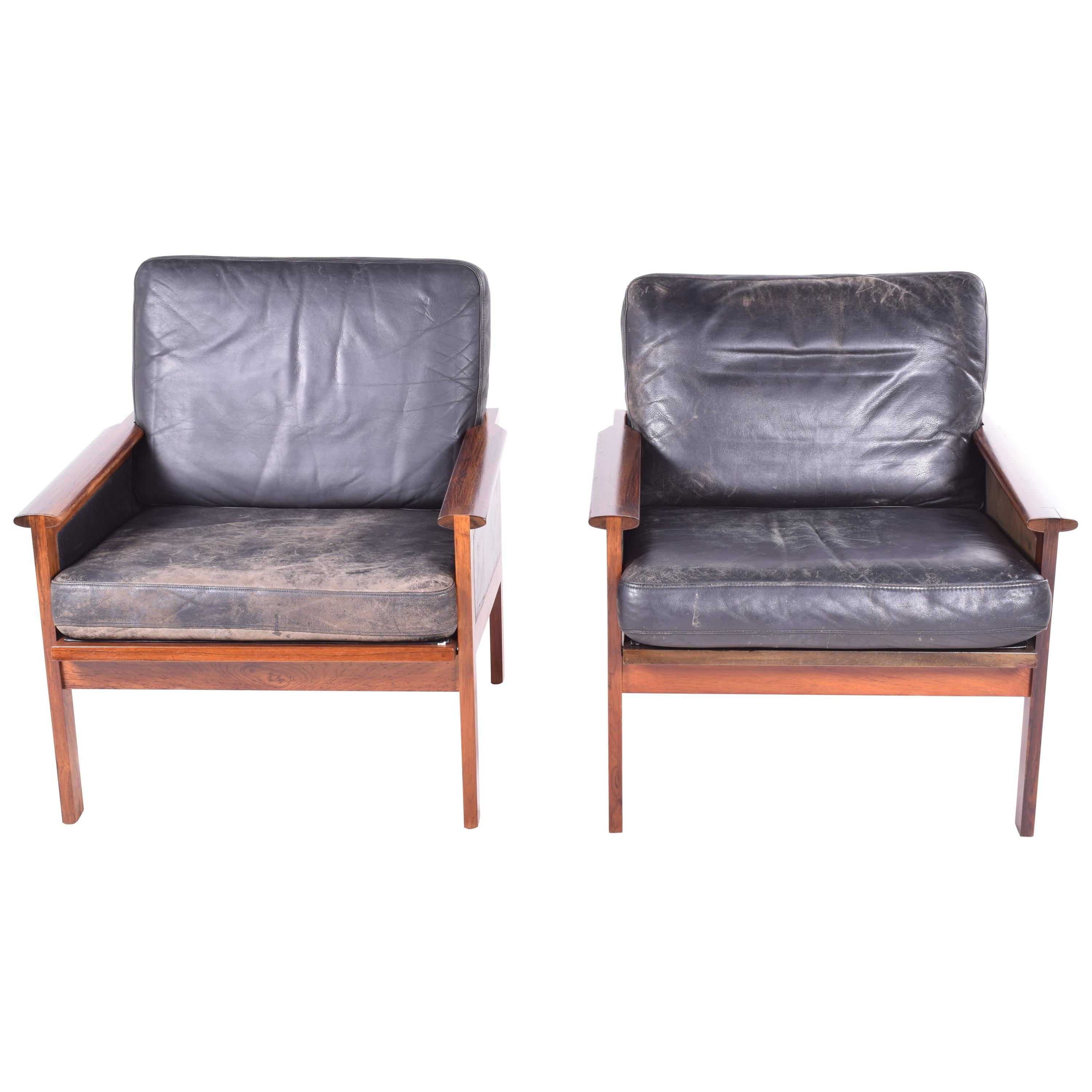Rosewood Capella Series Armchairs by Illum Wikkelsø for Niels Eilersen