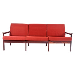 Rosewood Capella Three-Seat Sofa by Illum Wikkelso for Niels Eilersen