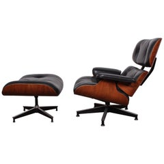 Rosewood Chair and Ottoman by Charles Eames for Herman Miller