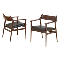 Rosewood Chair with Armrests, by Móveis Cantù, 1960s, Brazilian Midcentury