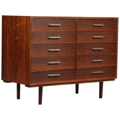 Rosewood Chest of 8 Drawers by Axel Christiansen for ACD Mobler