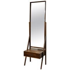 Rosewood Cheval Floor Mirror by Arne Vodder