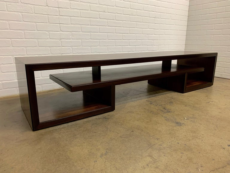 Rosewood Coffee Table or Bench by Paul Frankl For Sale 7