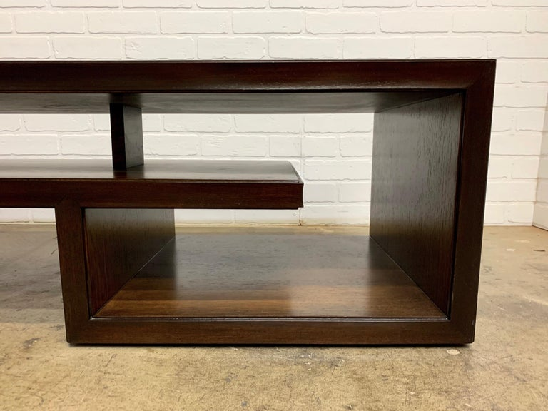 20th Century Rosewood Coffee Table or Bench by Paul Frankl For Sale