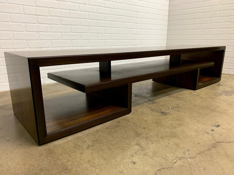 Rosewood Coffee Table or Bench by Paul Frankl For Sale 2