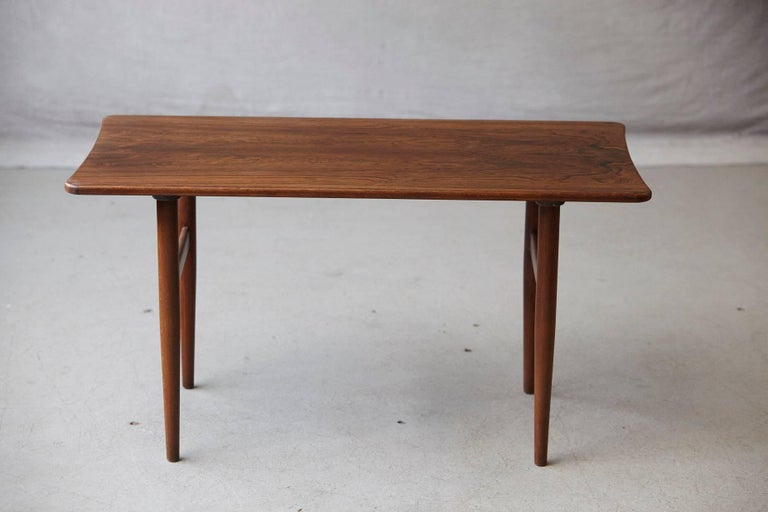 Mid-Century Modern Rosewood Coffee Table by Kurt Østervig for Jason Møbler, 1960s For Sale