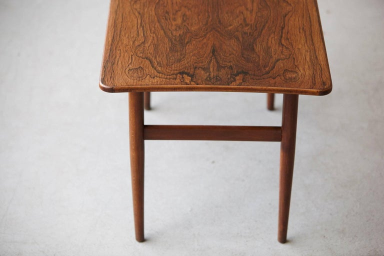 Rosewood Side Table by Kurt Østervig for Jason Møbler, 1960s In Good Condition For Sale In Weston, CT
