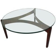 Rosewood Coffee Table by Sven Ellekaer for Christian Linneberg, 1960 Denmark