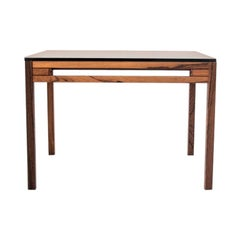 Rosewood Coffee Table with Glass Top, Scandinavian Modern, 1970s