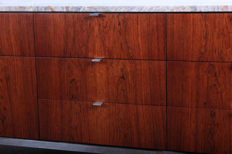 Rosewood Credenza by Florence Knoll For Sale 6
