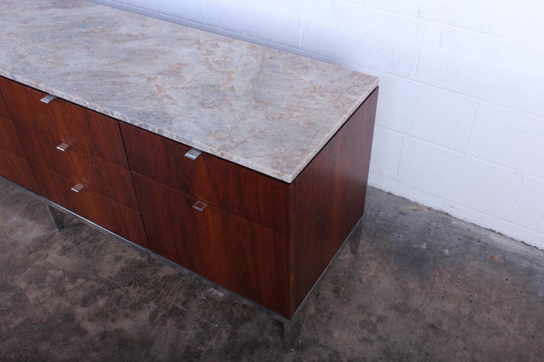 Rosewood Credenza by Florence Knoll For Sale 9