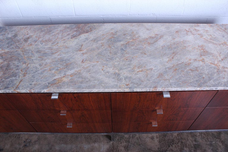 Rosewood Credenza by Florence Knoll For Sale 1