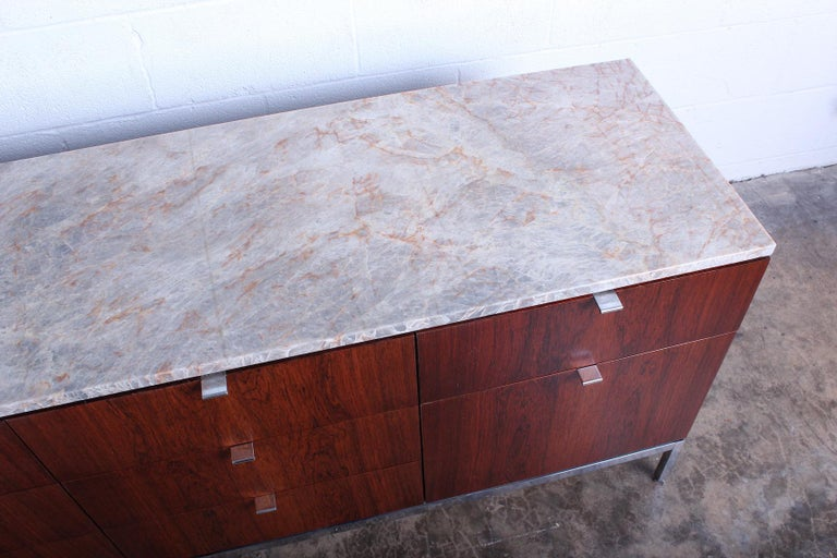 Rosewood Credenza by Florence Knoll For Sale 2
