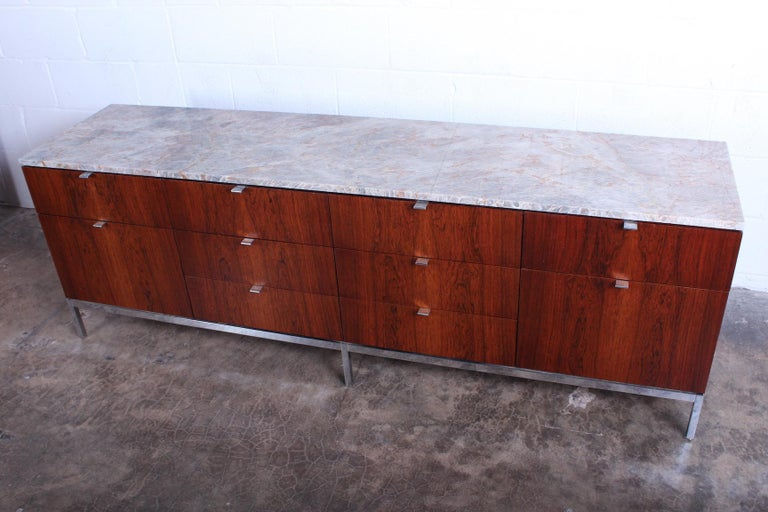 Rosewood Credenza by Florence Knoll For Sale 3