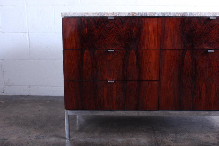 Rosewood Credenza by Florence Knoll For Sale 4