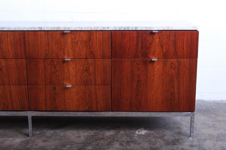 Rosewood Credenza by Florence Knoll For Sale 5