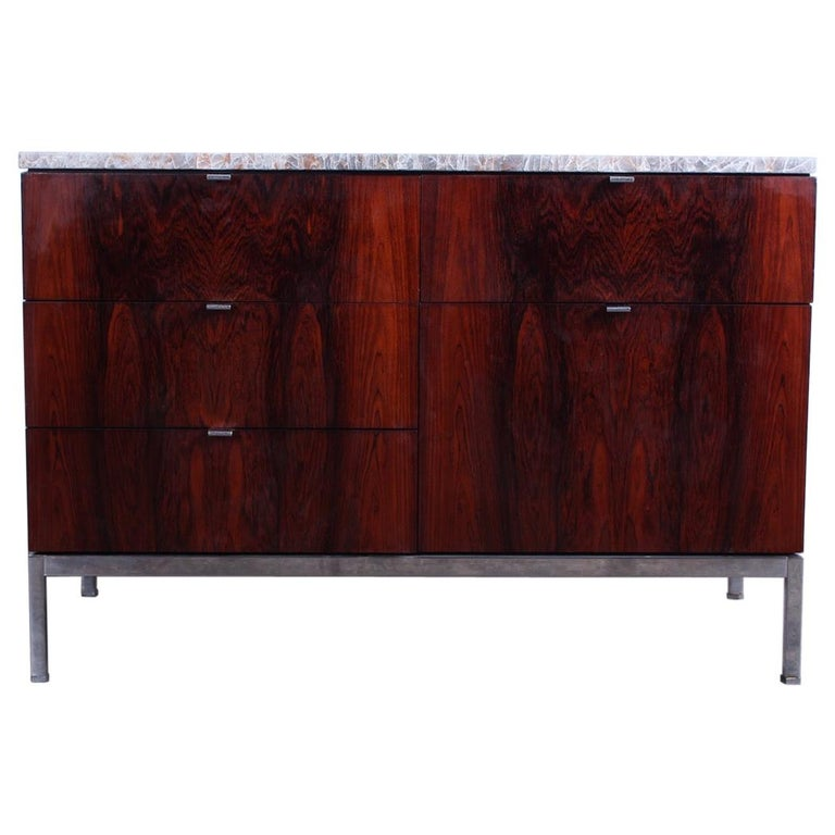 Rosewood Credenza by Florence Knoll For Sale