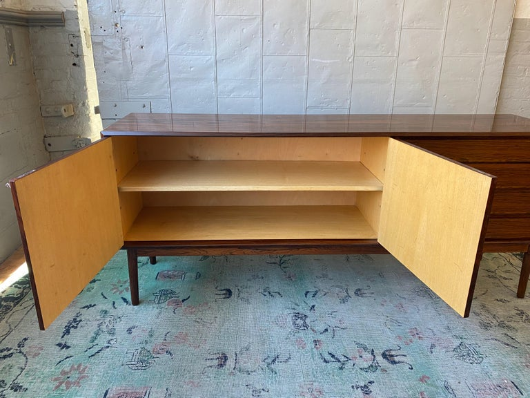 Rosewood Credenza by Maurice Villency In Good Condition In Buchanan, NY