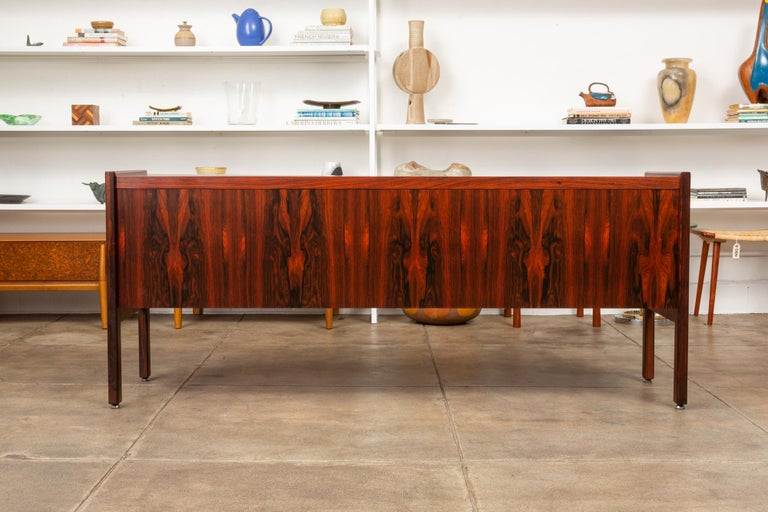 Rosewood Credenza with File Drawers For Sale 4