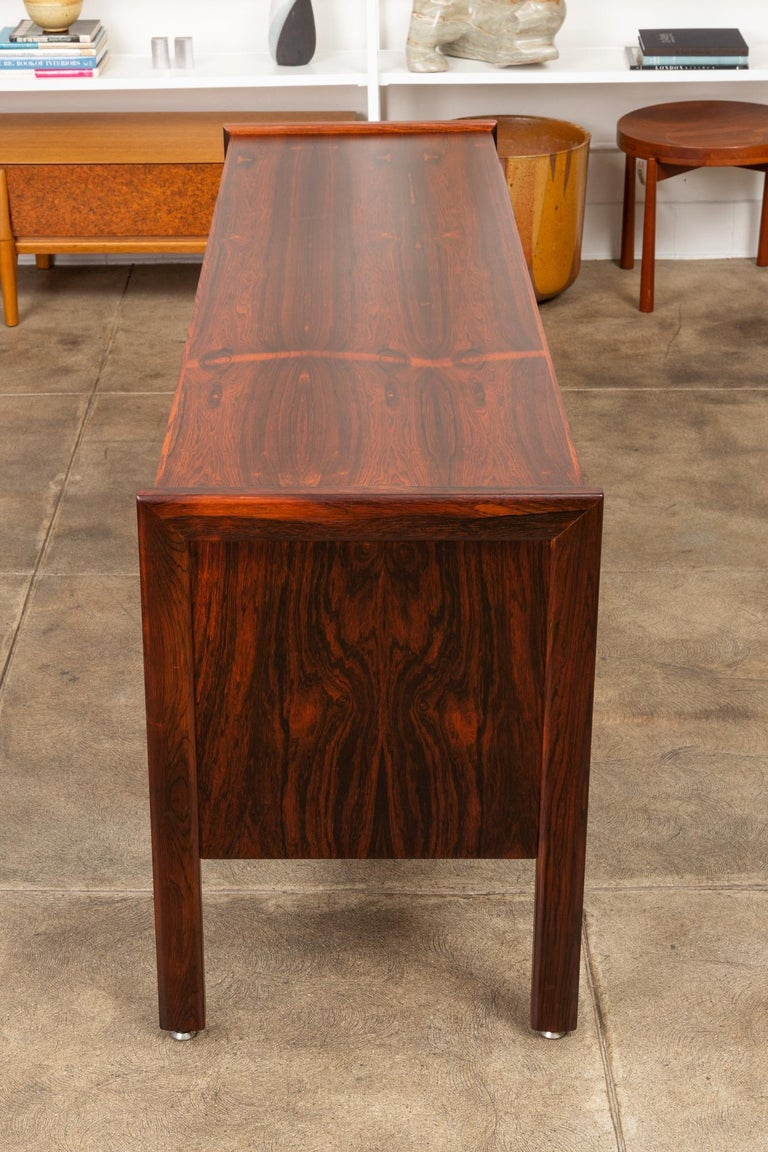 Rosewood Credenza with File Drawers For Sale 5