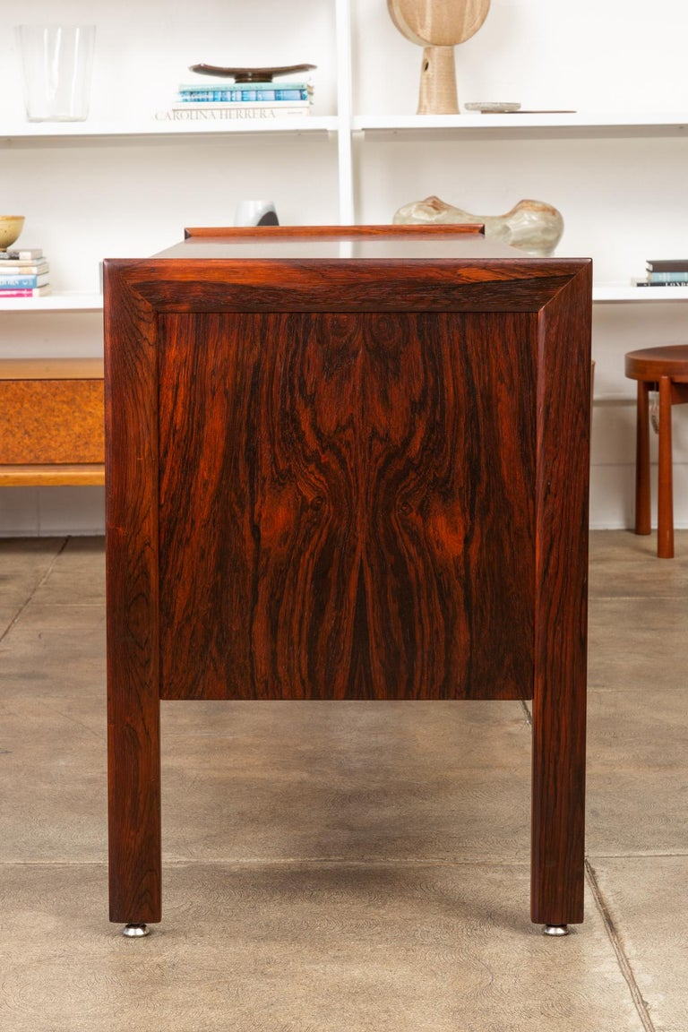 Rosewood Credenza with File Drawers For Sale 6