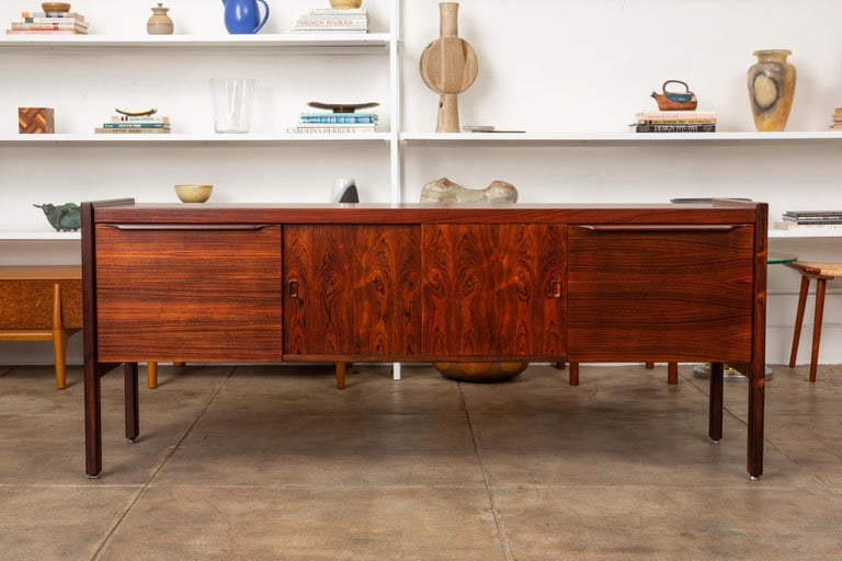 Mid-Century Modern Rosewood Credenza with File Drawers For Sale