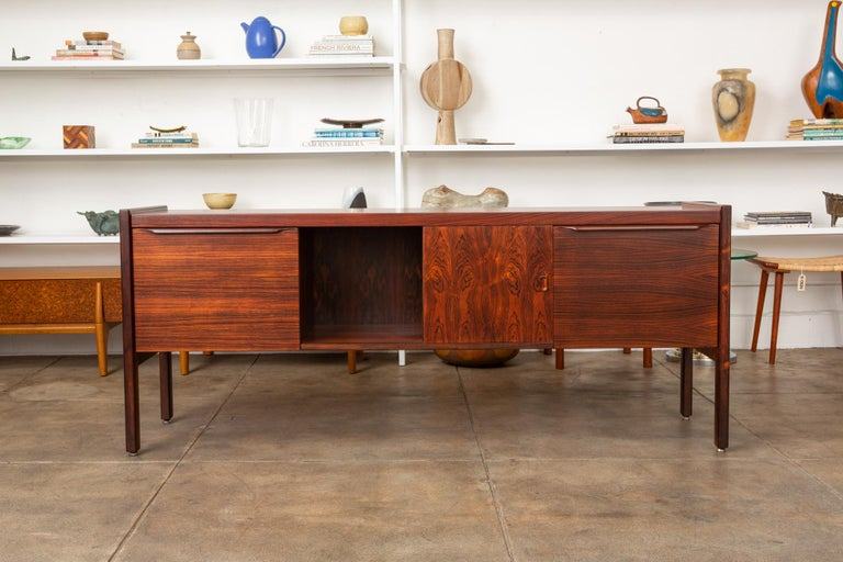 American Rosewood Credenza with File Drawers For Sale