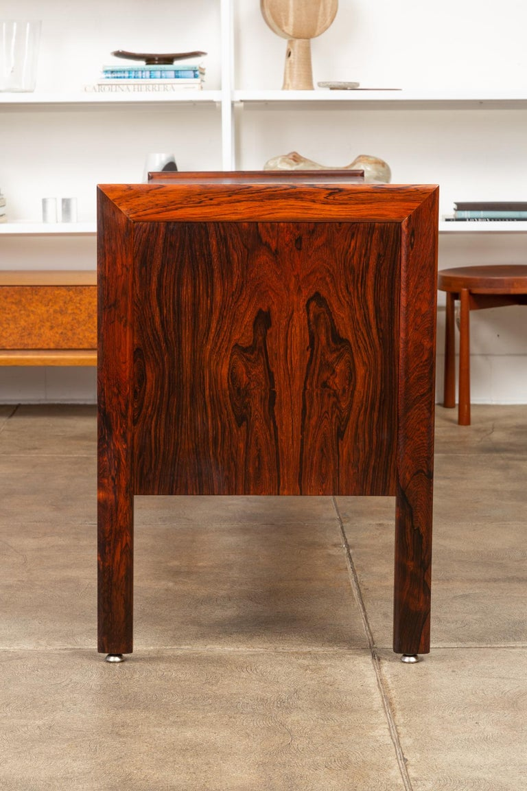 Rosewood Credenza with File Drawers For Sale 3