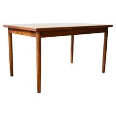 Rosewood Danish 1960s Extendable Dining Table