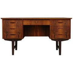 Rosewood Danish Design Writing Desk Vintage