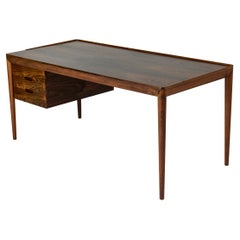 Rosewood Danish Desk by Erik Riisager Hansen for Haslev Møbelfabrik, 1950s