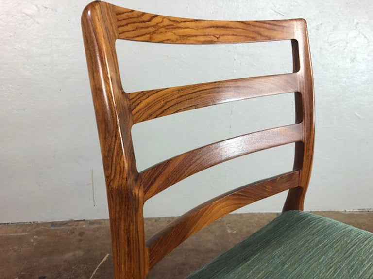 Rosewood Danish Dining Chair In Excellent Condition For Sale In Phoenix, AZ