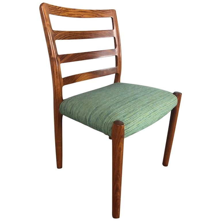Rosewood Danish Dining Chair For Sale