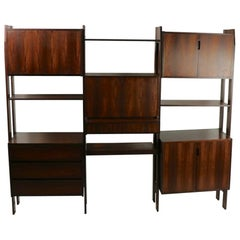 Rosewood Danish Freestanding Wall Unit
