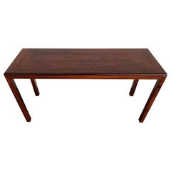 Rosewood Danish Modern Console or Sofa Table by Vejle Stole