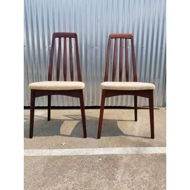 Scandinavian Modern Rosewood Danish Modern Dining Chairs by Svegards, a Pair For Sale