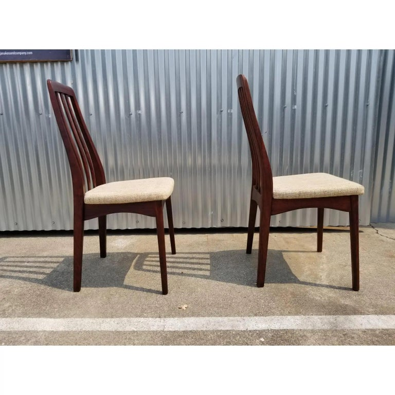 20th Century Rosewood Danish Modern Dining Chairs by Svegards, a Pair For Sale