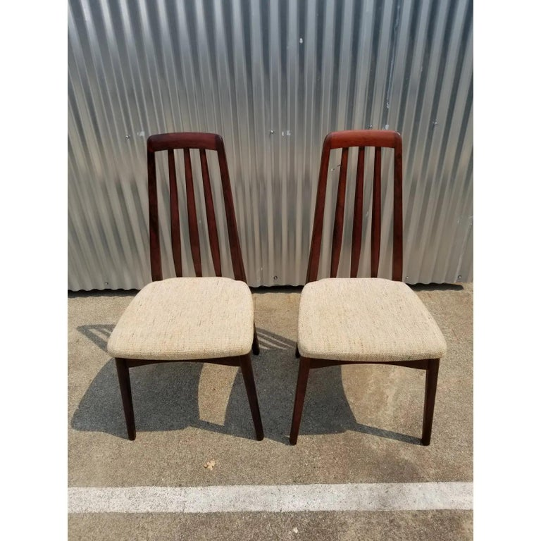 Rosewood Danish Modern Dining Chairs by Svegards, a Pair For Sale 1