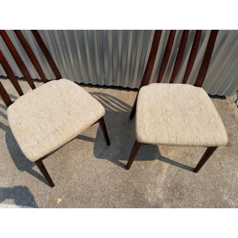 Rosewood Danish Modern Dining Chairs by Svegards, a Pair For Sale 2
