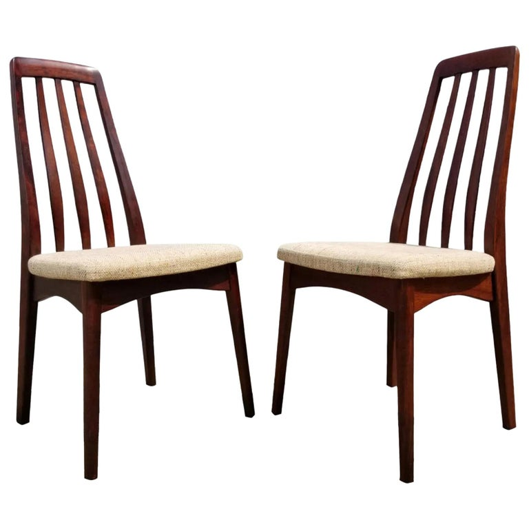 Rosewood Danish Modern Dining Chairs by Svegards, a Pair For Sale