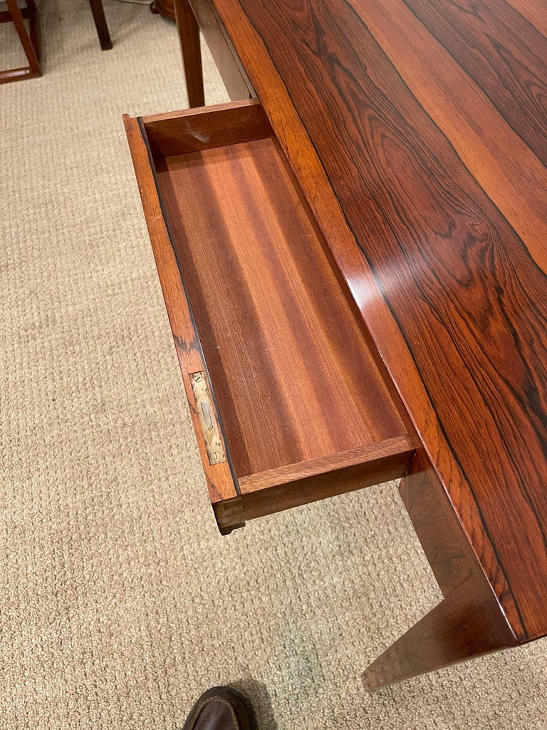 Rosewood Danish Modern Writing Table, by Riis Antonsen For Sale 4