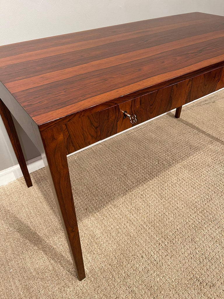 Rosewood Danish Modern Writing Table, by Riis Antonsen For Sale 10