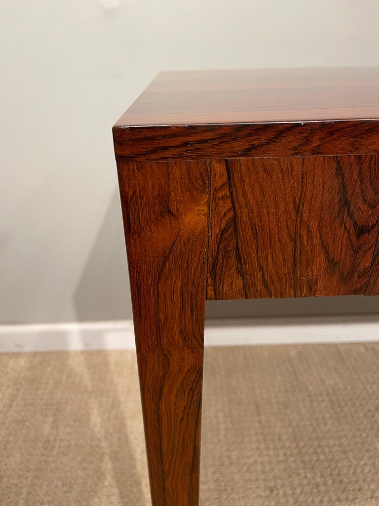 Mid-Century Modern Rosewood Danish Modern Writing Table, by Riis Antonsen For Sale